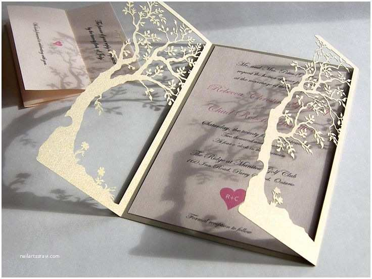 Laser Cut Tree Wedding Invitations 17 Best Ideas About Cricut Wedding Invitations On