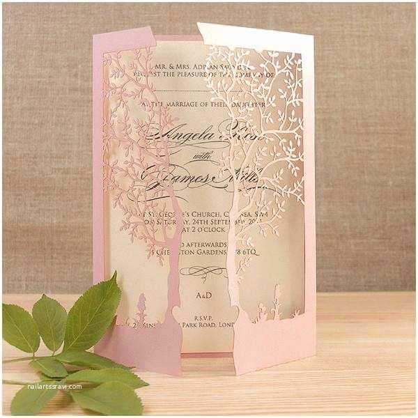 personalised laser cut wedding invitations