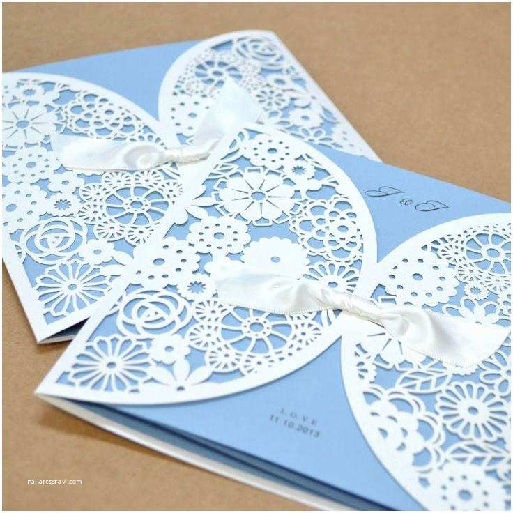 Laser Cut Wedding Invitation Kits 1 Sample Kit Luxury Laser Cut Satin Ribbon Wedding Cards