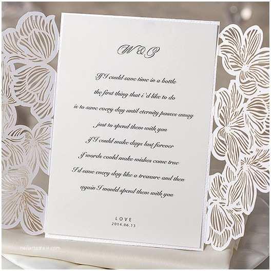Laser Cut Wedding Invitation Kits Flower Laser Cut Simple Wedding Invitation Kits Ewws012 as