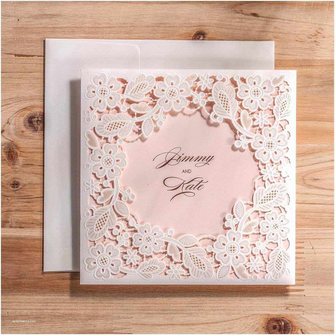 Laser Cut Wedding Invitation Kits top 10 Best Cheap Diy Wedding Invitations