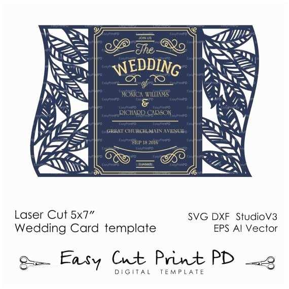 Laser Cut Wedding Invitations 246 Best Wedding Invitation Templates Cutting Files Svg