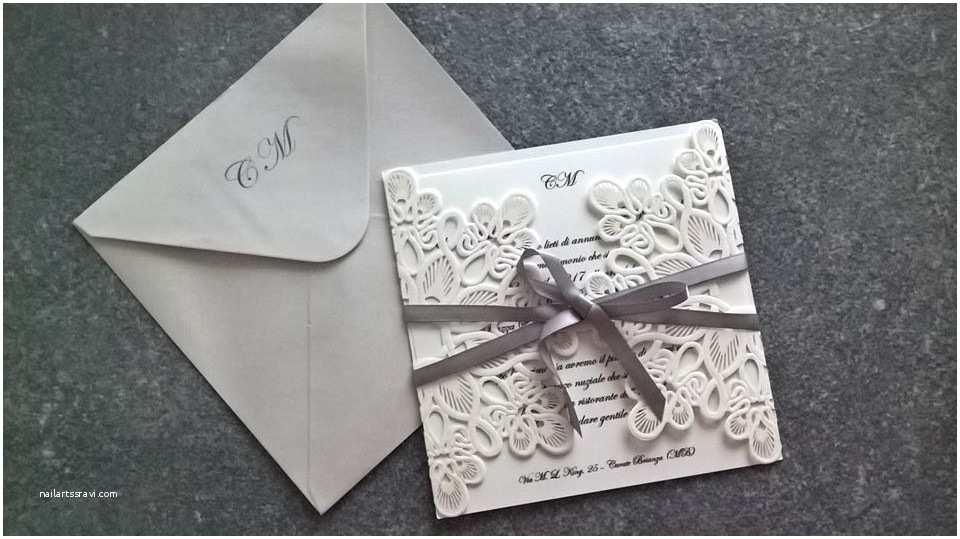 Laser Cut Wedding Invitations Cheap Affordable Exquisite Laser Cut Grey Ribbon Wedding