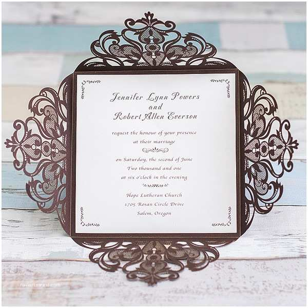Laser Cut Wedding Invitations Cheap Affordable Shiny Black Laser Cut Wedding Invitations