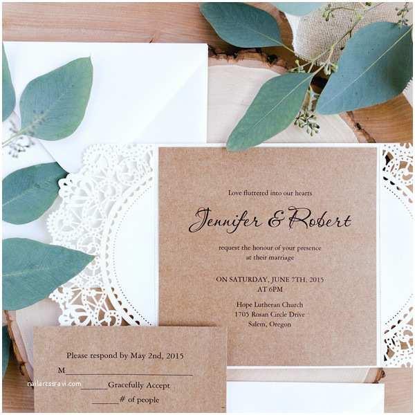 Laser Cut Wedding Invitations Cheap Inexpensive Rustic Laser Cut Wedding Invitation with Tag