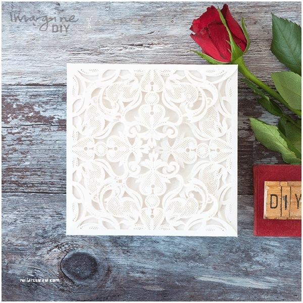 Laser Cut Wedding Invitations Diy Jaipur White Invitation Imagine Diy