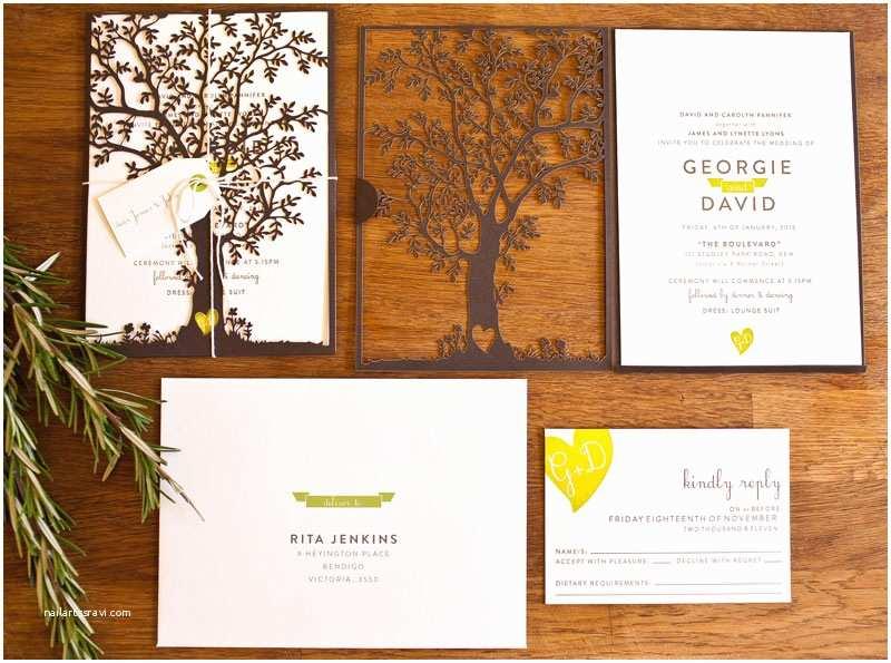 Laser Cut Wedding Invitations Georgie Dave S Nature Inspired Wedding Invitations