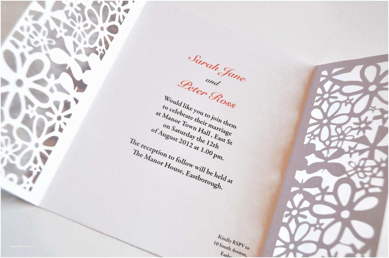 Laser Cut Wedding Invitations Handmade Wedding Finds Laser Cut Invitation