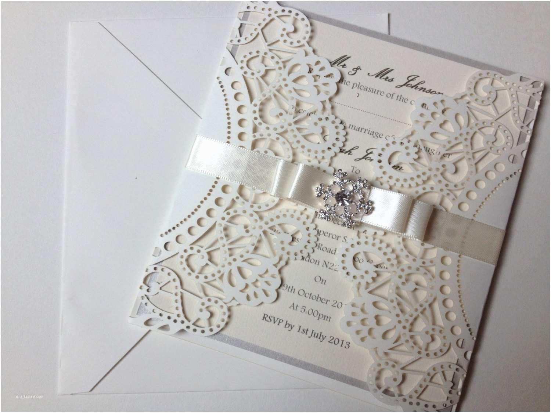 Laser Cut Wedding Invitations Items Similar to Laser Cut Wedding Invitation Sample with
