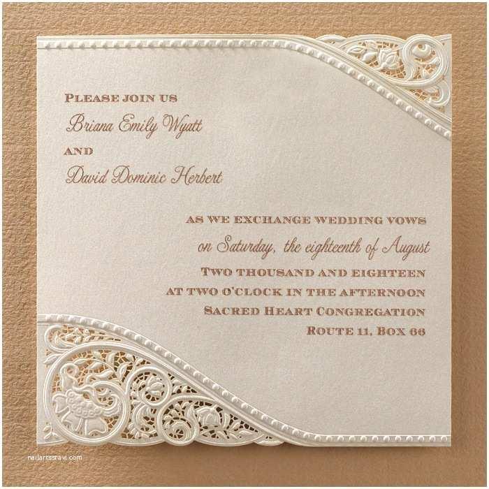 Laser Cut Wedding Invitations Laser Cut Vintage Lace Wedding Invitations Little Flamingo