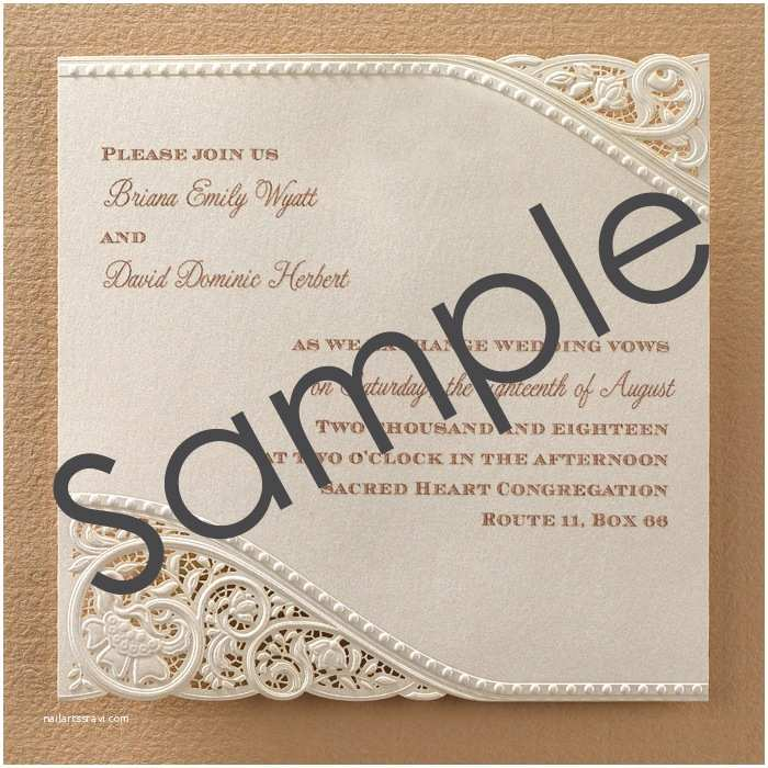 Laser Cut Wedding Invitations Laser Cut Vintage Lace Wedding Invitations Sample