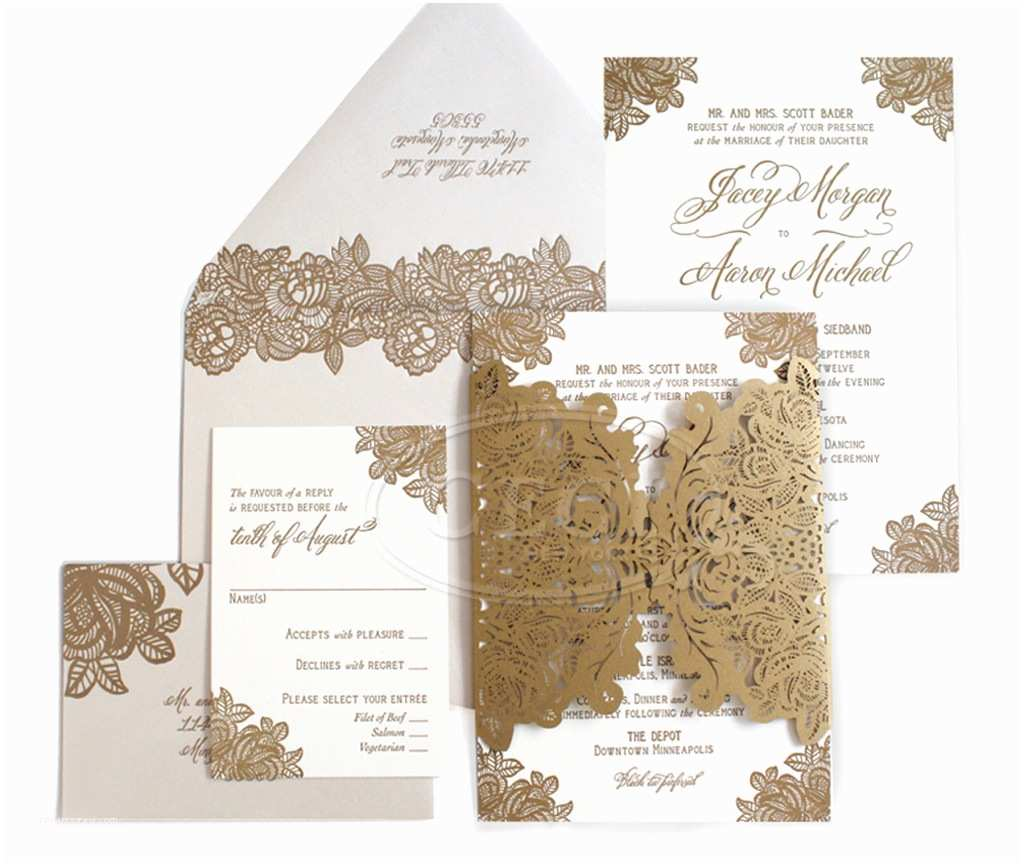 letterpress laser cut wedding invitation cards