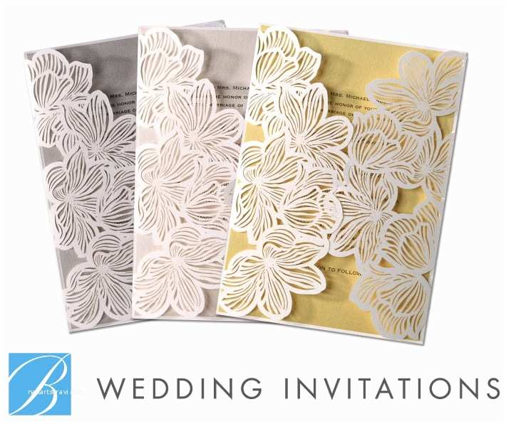 Laser Cut Wedding Invitations Near Me Laser Cut Floral Lace by B Wedding Invitations Yelp