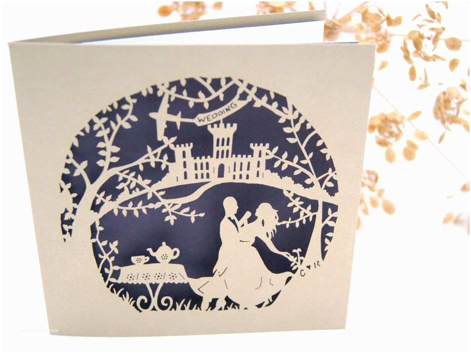 Laser Cut Wedding Invitations Near Me Laser Cut Retro Tea Dance Wedding Invitations