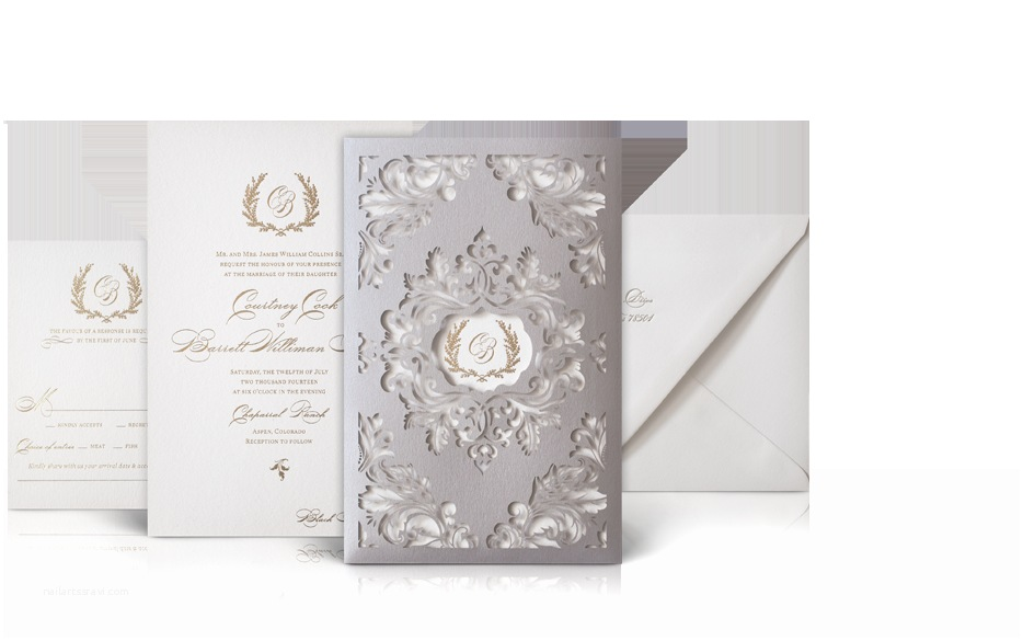 Laser Cut Wedding Invitations Nyc Courtney and Barrett Luxury Wedding Invitations Laser