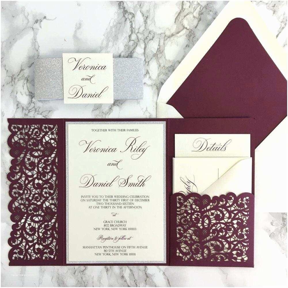 Laser Cut Wedding Invitations Nyc Laser Cut Wedding Invitations Graceful Metallic Gold Laser