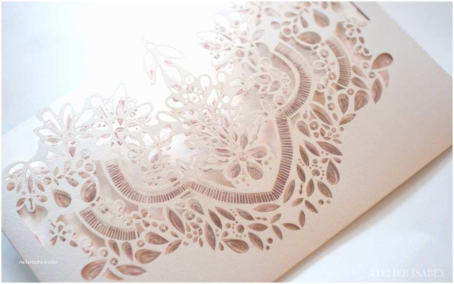 Laser Cut Wedding Invitations Nyc Noura and Abdullah