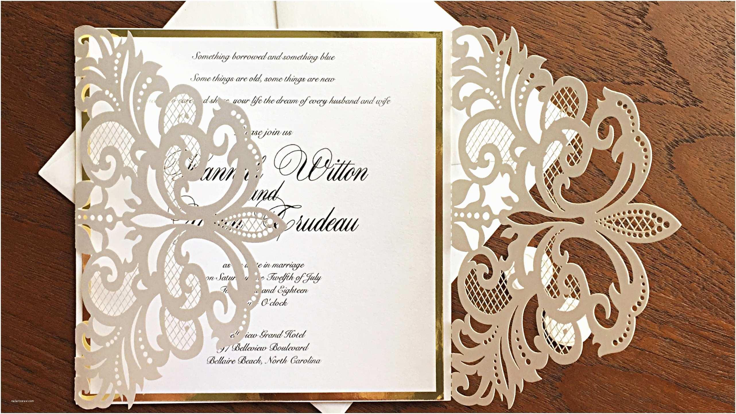 Laser Cut Wedding Invitations White Laser Cut Wedding Invitation – the Bow Invitations