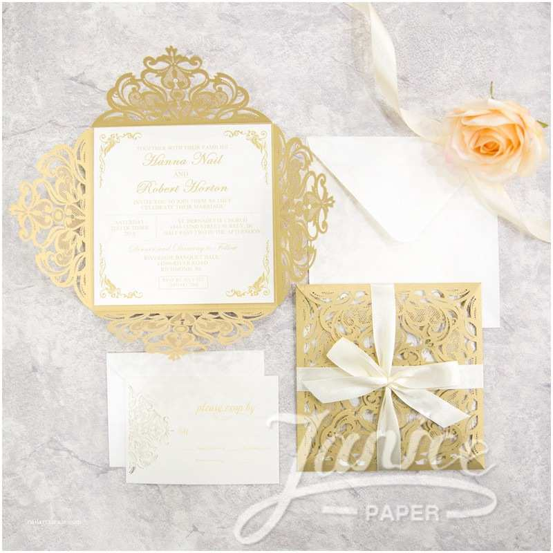 Laser Cut Wedding Invitations wholesale Classic Laser Cut wholesale Wedding Invitation Suite