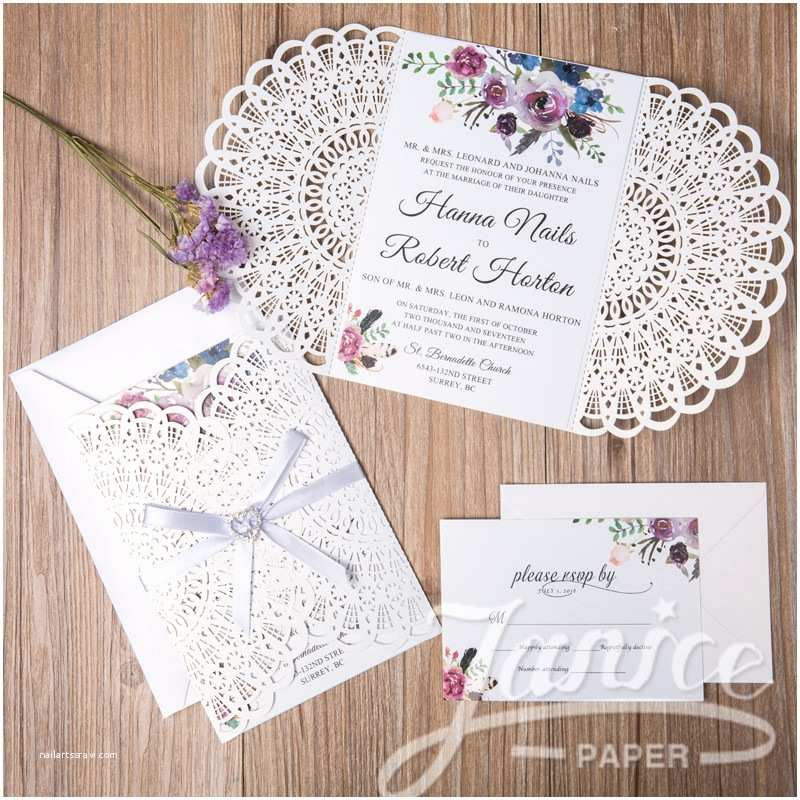 Laser Cut Wedding Invitations wholesale Gorgeous Floral Laser Cut wholesale Wedding Invitation