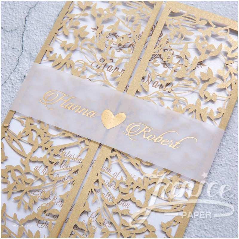 Laser Cut Wedding Invitations wholesale Leaves Mesh Gate Design Laser Cut wholesale Wedding