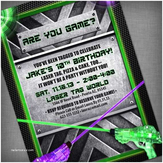Laser Tag Birthday Invitations 14 Best Laser Tag Party Images On Pinterest