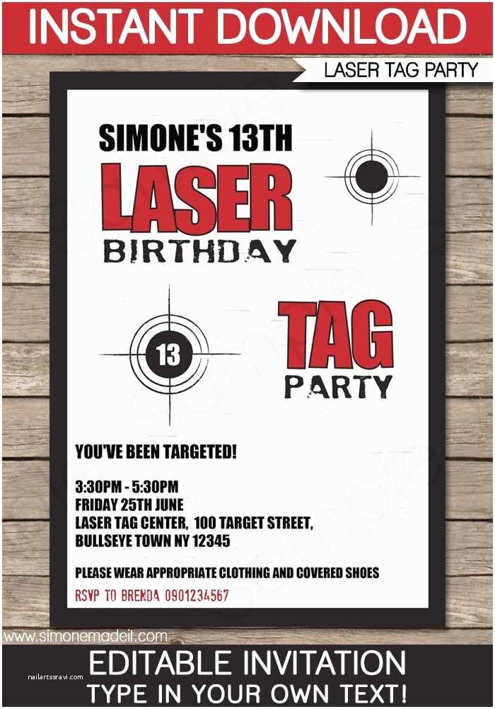 Laser Tag Birthday Invitations Best 20 Ideas On Pinterest