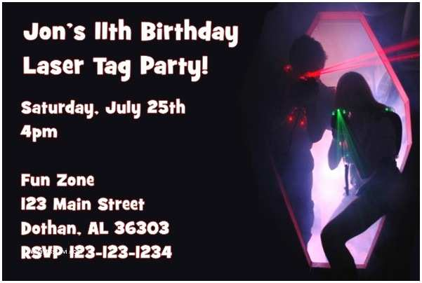 Laser Tag Birthday Invitations Free Printable Laser Tag Birthday Party Invitations