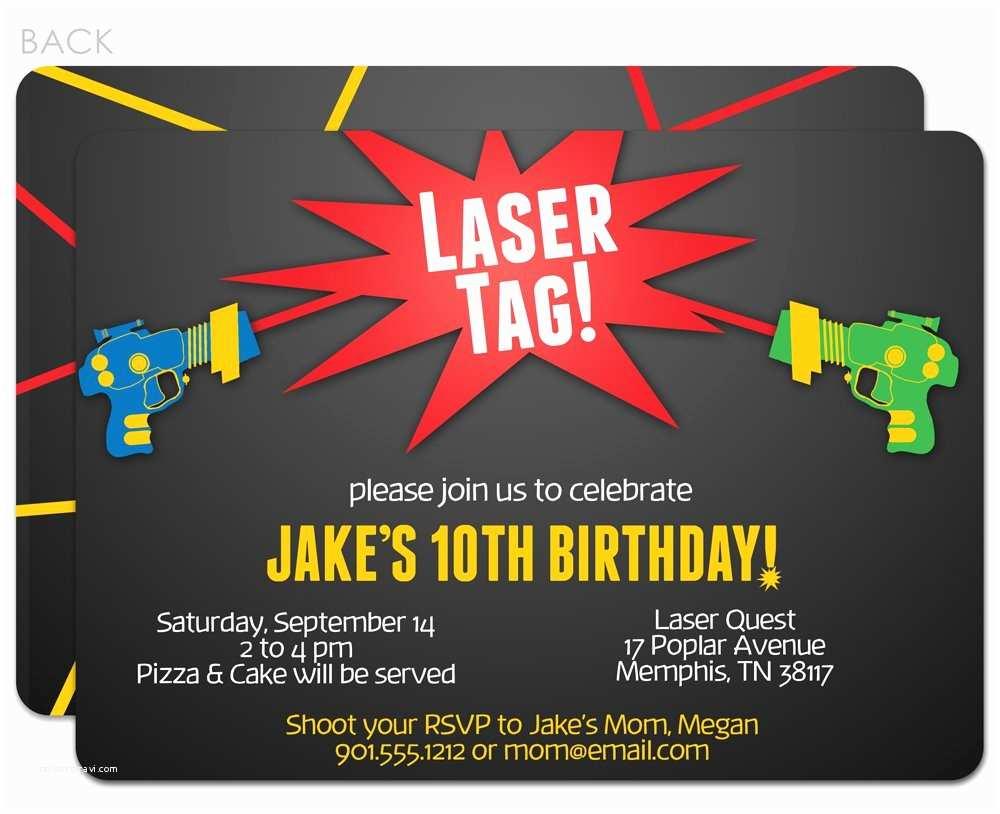 Laser Tag Birthday Invitations Free Printable