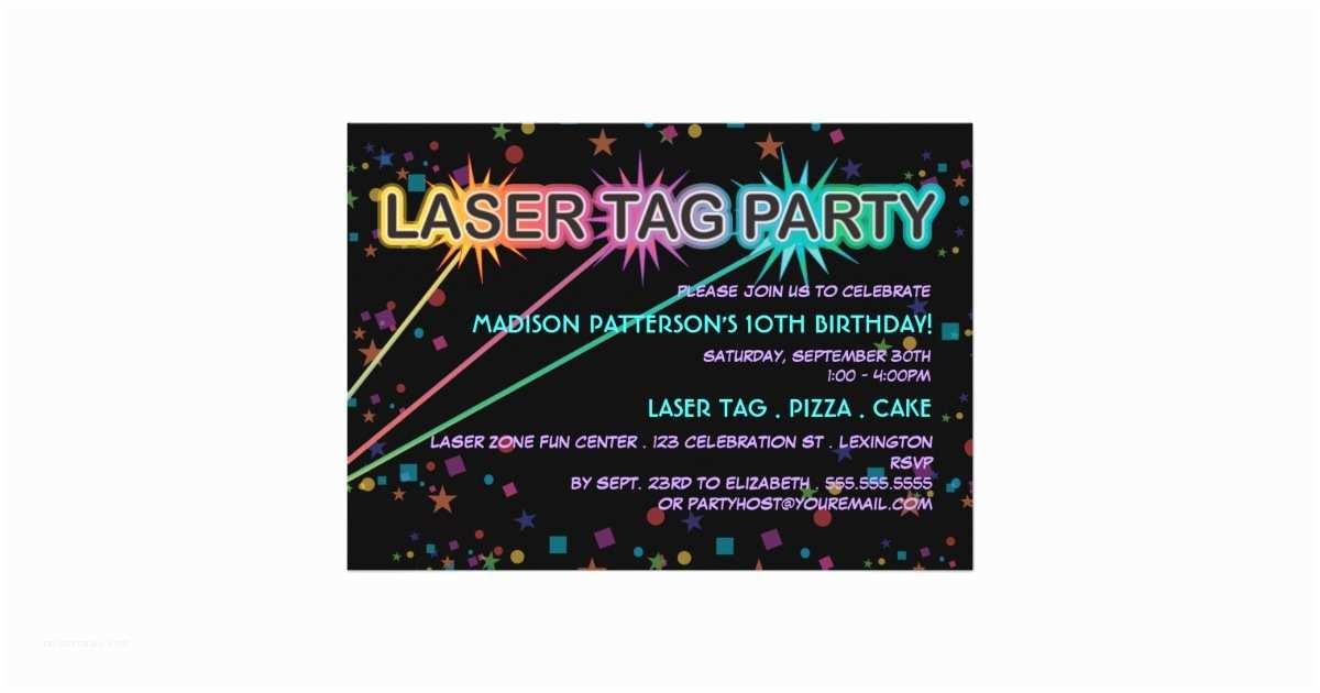 Laser Tag Birthday Invitations Laser Tag Birthday Party Invitation