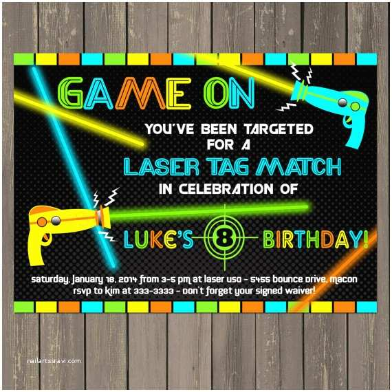 graphic relating to Laser Tag Invitations Free Printable identify Laser Tag Birthday Invites Laser Tag Birthday