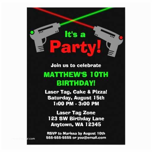 Laser Tag Birthday Invitations Laser Tag Invitations Birthday Invitation Templates