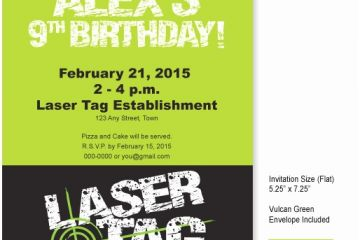 Laser Tag Party Invitations 9 Best Of Free