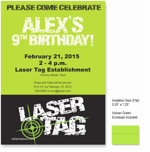 Laser Tag Party Invitations 9 Best Of Laser Tag Invitations Free Printable