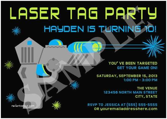 Laser Tag Party Invitations Items Similar to Laser Tag Boy Birthday Party Invitation