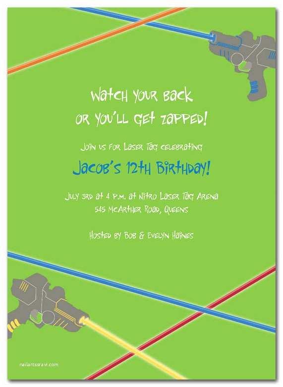 Laser Tag Party Invitations Laser Tag Birthday Invitations by Invitation Consultants