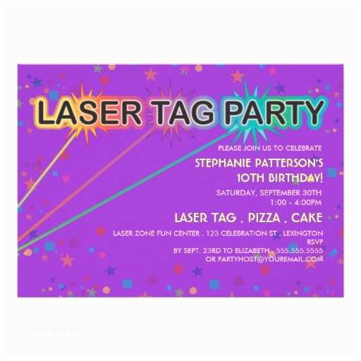 Laser Tag Party Invitations Laser Tag Birthday Party Invitation