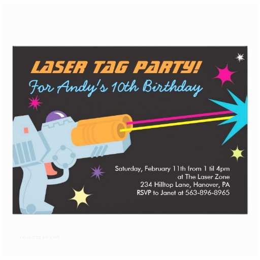 Laser Tag Party Invitations Laser Tag Birthday Party Invitations
