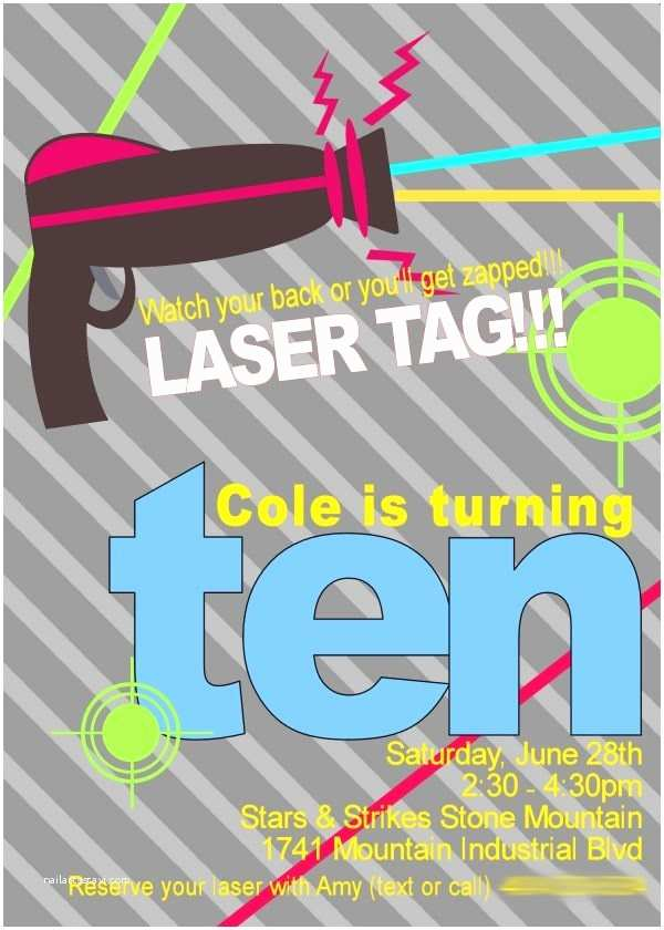 Laser Tag Party Invitations Laser Tag Party Ideas
