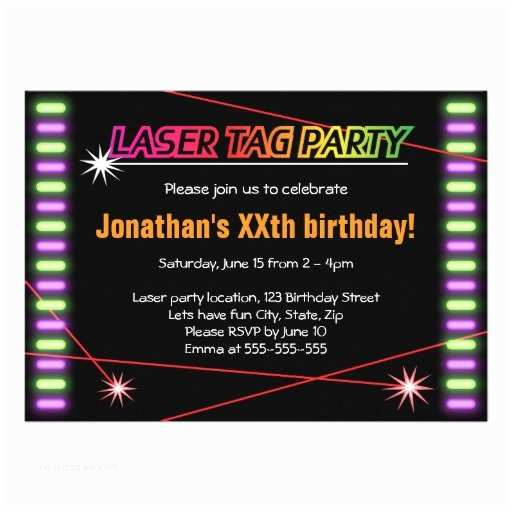 Laser Tag Party Invitations Laser Tag Party Invitation Templates