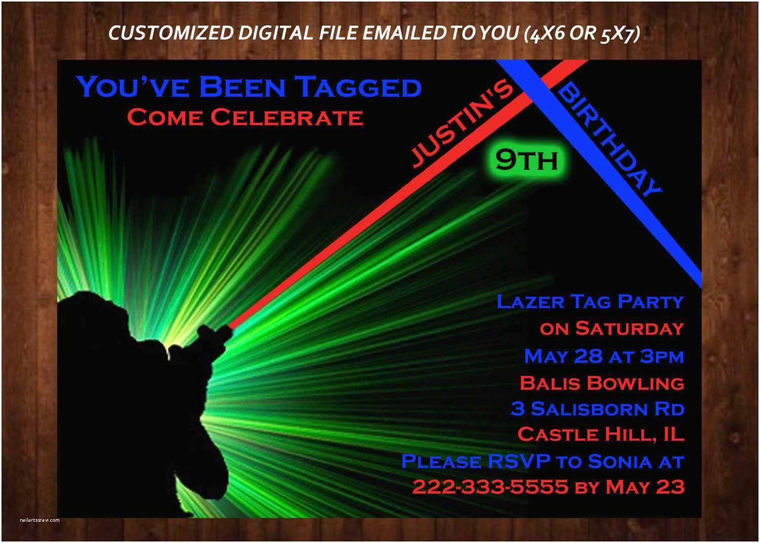 laser tag themed birthday party