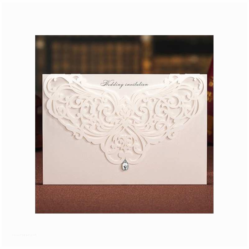 Laser Wedding Invitations Chandelier Laser Cut Wedding Invitation Card