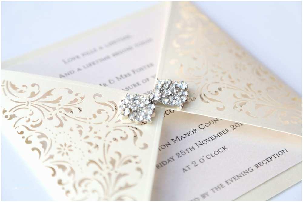 Laser Wedding Invitations Ivory Gatefold Laser Cut Wedding Invitation Vintage