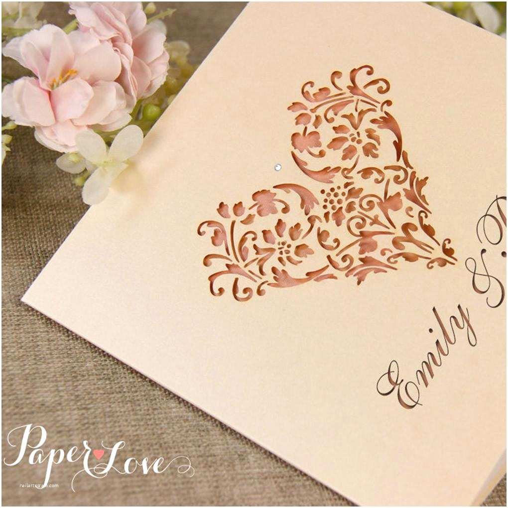 Laser Wedding Invitations Laser Cut Wedding Invitation Heart – Paper Love Cards