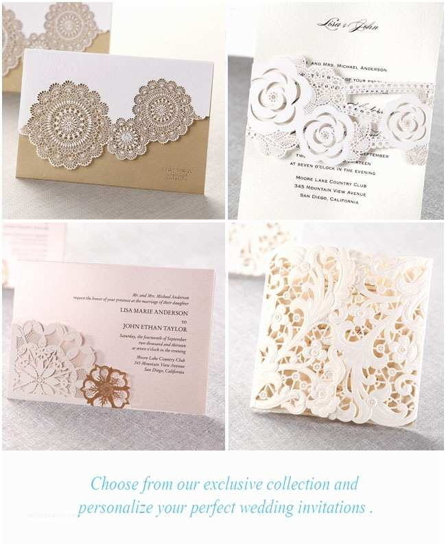 Laser Wedding Invitations Laser Cut Wedding Invitations From B Wedding Invitations