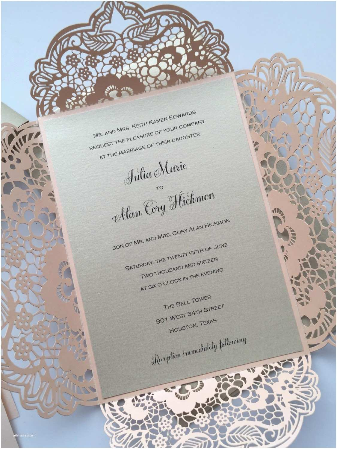 Laser Wedding Invitations Laser Cut Wedding Invitations