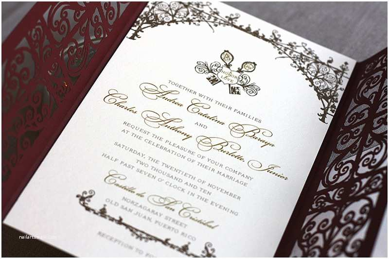 Laser Wedding Invitations Spanish Style Laser Cut Invitations