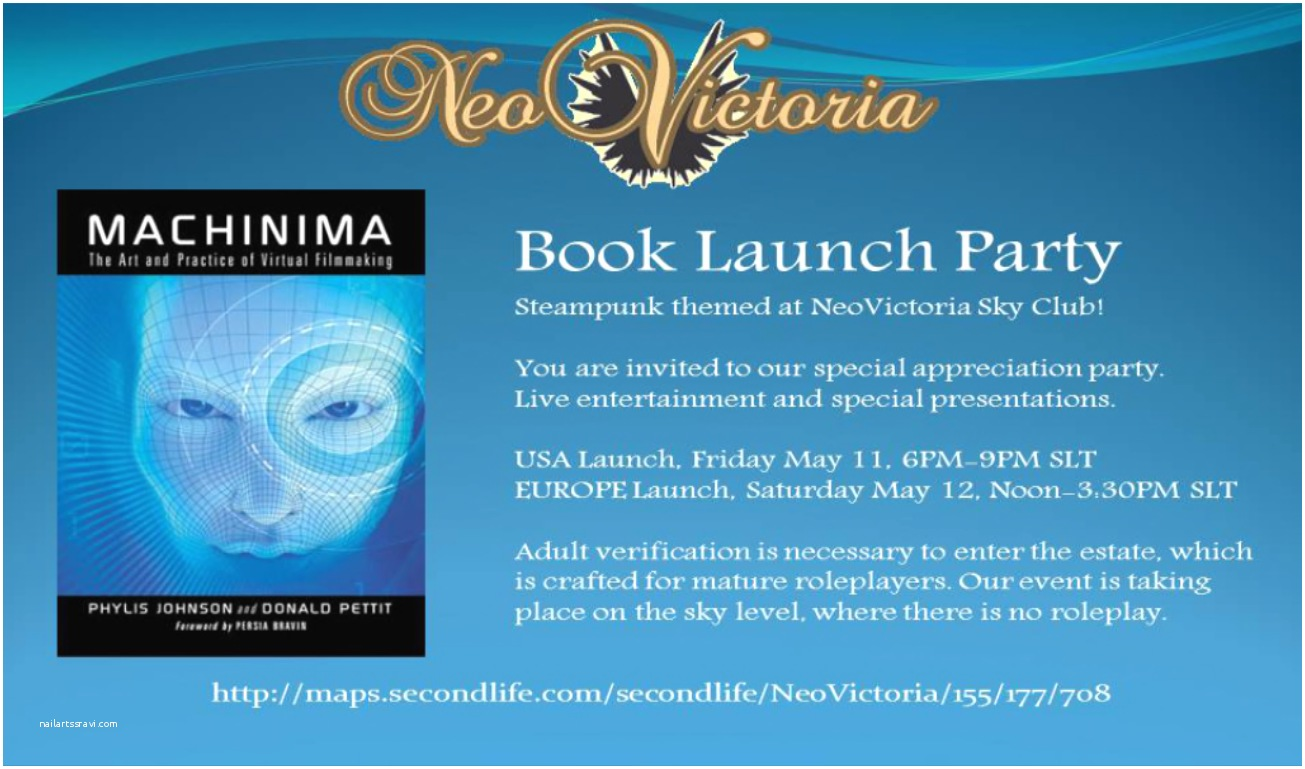 Launch Party Invitation An Elegant Invitation to A Steampunk themed Book Launch