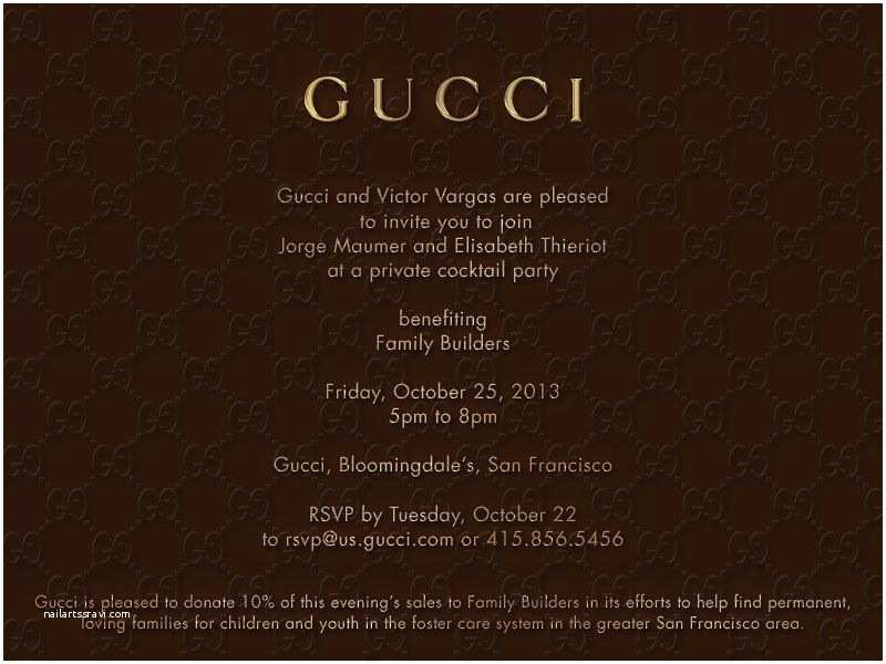 Launch Party Invitation Gucci Invite for Launch Party for Luxetigers Fashion