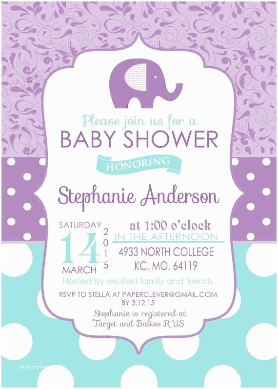 lilac baby shower